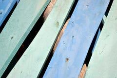 Blaue hölzerne Plankenwand Lizenzfreies Stockbild