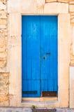 Blaue hölzerne Tür Lizenzfreies Stockbild