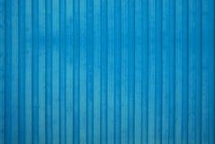 Blaue hölzerne Wand Lizenzfreie Stockfotografie
