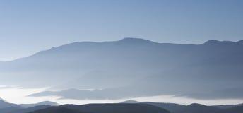 Blaue Hügel stockbild