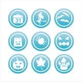 Blaue Halloween-Zeichen stock abbildung