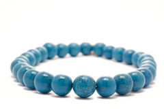 Blaue Halskette Stockbild
