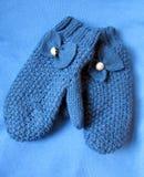Blaue Handschuhe Stockfotografie