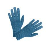 Blaue Handschuhe Lizenzfreie Stockbilder