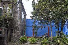 Blaue Haus-La-Casa Azul weihte Frida Kahlo ein Stockfotografie