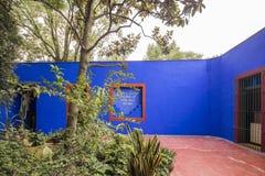Blaue Haus-La-Casa Azul weihte Frida Kahlo ein Stockfoto