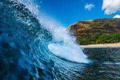 Blaue hawaiische Welle stockbilder