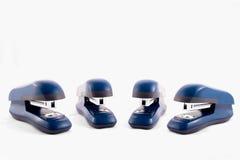 Blaue Heftermaschine Stockbild