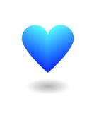 Blaue Herzliebe Stockfotos