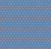 Blaue Hexagonziegelstein-Dreieckabstraktion Lizenzfreies Stockbild