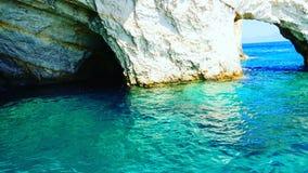 Blaue Höhlen Zakynthos im Juli 2016 Stockfotos