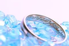 Blaue Hochzeit stockfoto