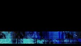Blaue Hundertbauchbinde stock video