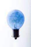 Blaue Ideen-Birne Lizenzfreies Stockbild