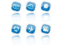 Blaue Ikonen Lizenzfreie Stockbilder
