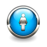 Blaue Ikonenfrauen Lizenzfreies Stockfoto
