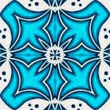 Blaue indische Verzierung, aquamarine Arabeske mit Effekt pixelisation stock abbildung