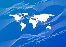 Blaue Inet Welt Stock Abbildung