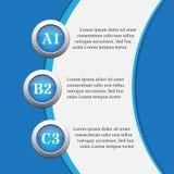 Blaue infographics Fahnen - Designschablonen Lizenzfreies Stockfoto