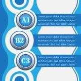 Blaue infographics Fahnen - Designschablonen Stockfoto