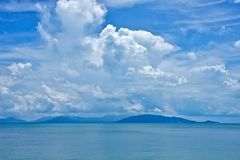 Blaue Insel Lizenzfreies Stockfoto