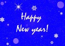 Blaue Karte des neuen Jahres Lizenzfreie Stockfotografie