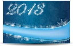 Blaue Karte für das neue Jahr Lizenzfreie Stockfotografie