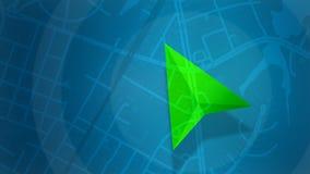 Blaue Karte mit HUD-Design und POI-Hintergrund lizenzfreie stockfotografie