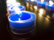 Blaue Kerze Stockbild