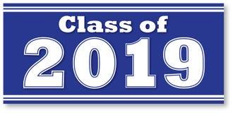 Blaue Klasse von Fahne 2019 Stockbilder