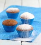 Blaue kleine Kuchen Lizenzfreie Stockfotografie