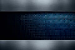 Blaue Kohlenstofffaser mit Metallbeschaffenheit lizenzfreie stockbilder