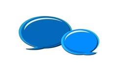 Blaue komische Ballone Stockbild
