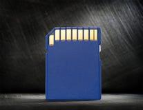Blaue kompakte codierte Karte für Kamera Lizenzfreies Stockbild