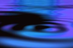 Blaue Kräuselungen stock abbildung