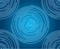 Blaue Kreise lizenzfreie abbildung