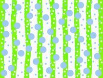 Blaue Kreise und grüne Streifen auf weißem Hintergrund stockbild