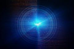 Blaue Kreisglühenwelle Scifi- oder Spielhintergrund Lizenzfreie Stockfotos