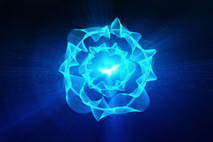 Blaue Kreisglühenwelle Scifi- oder Spielhintergrund Stockfotos