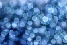 Blaue Kreisreflexionen Stockfotografie