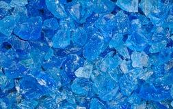 Blaue Kristalle lizenzfreies stockbild