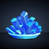 Blaue Kristalle des kupfernen Sulfats Lizenzfreie Stockbilder