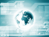 Blaue Kugel auf der Digitaltechnik Lizenzfreies Stockfoto