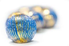 Blaue Kugeln Stockbild