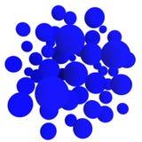 Blaue Kugeln Stockfoto
