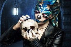 Blaue Kunst bilden Lizenzfreies Stockfoto