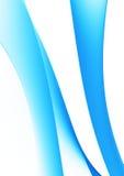 Blaue Kurven auf Weiß lizenzfreies stockbild