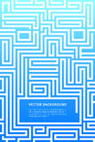 Blaue Labyrinthzeitschrift paginiert Anteile der Größe A4 vektor abbildung