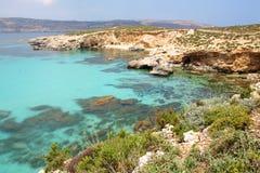 Blaue Lagune Comino Lizenzfreies Stockbild
