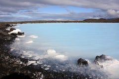 Blaue Lagune in Island Stockbilder